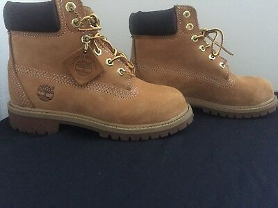 Timberland Construction 6-Inch Premium Waterproof Boots Boys Size 1