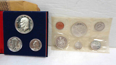 1965 Canadian Canada Proof Set & U.S. Bicentennial Silver Proof Set LOT!