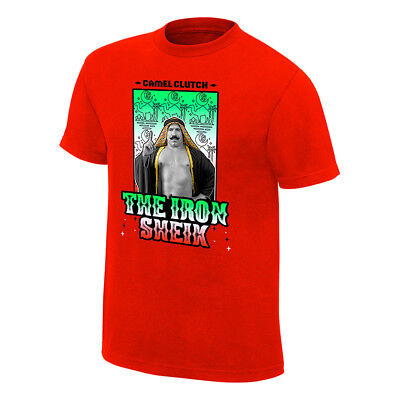The Iron Sheik 2018 AUTHENTIC T-SHIRT S-XXL WWE NEU RAW neon Wrestling WWF