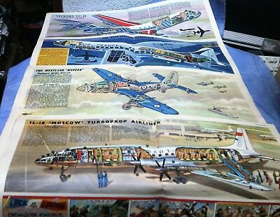 4 x Eagle  Cutaway IL-18 'Moscow', Westland 'Wyvern', Caravelle & Vickers VC-10