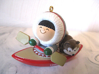 1985 Hallmark Frosty Friends Kayak Christmas Ornament #6 NO BOX
