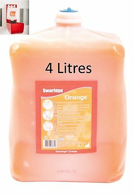 Heavy Duty Swarfega Orange 4 Litre Refill Pouch Hand cleaner Workshop