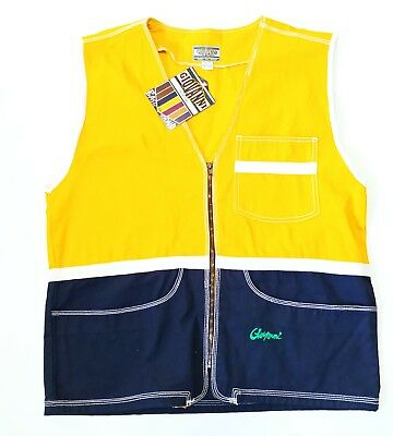 90s Giovanni Canvas Vest COLOR BLOCK Vintage Vtg Hip Hop Rap Baggy DeadStock