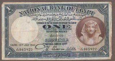 1942 Egypt 1 Pound Note