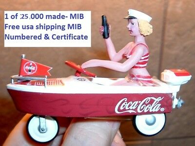 Coca Cola Pedal Car Boat 1:12 Vintage 38578 of 25,000 Coke Advertising Boat MIB