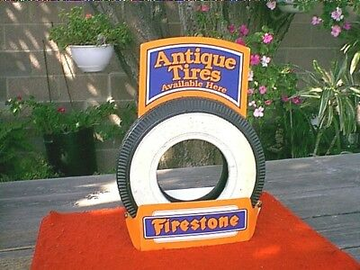 FIRESTONE TIRE >>>  ORIGINAL 1960's - 1970's NOS WHITEWALL COUNTER DISPLAY