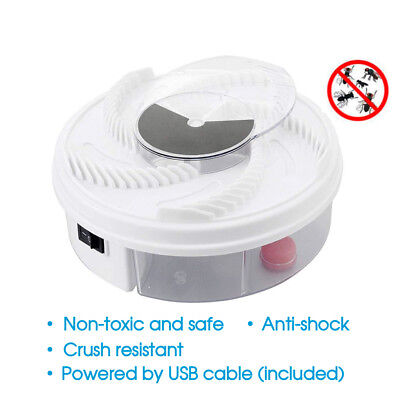 AU Electric Fly Trap Device with Trapping Food -White USB Cable Insect Killer