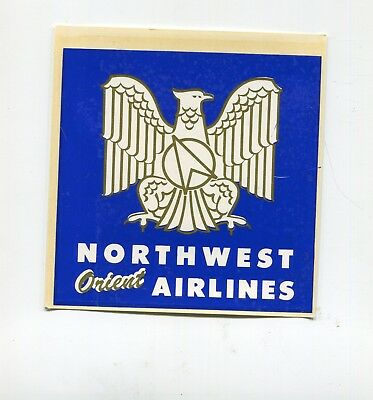 Vintage Airline Decal NORTHWEST ORIENT AIRLINES eagle logo large