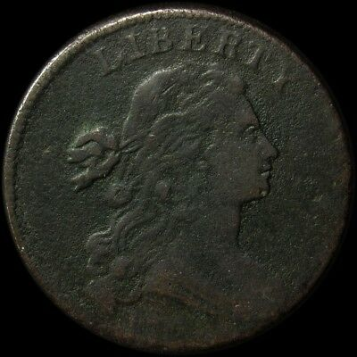 1798 Flowing Hair Large Cent S.166 - VG/Fine - 2nd Hair Copper - Very Good