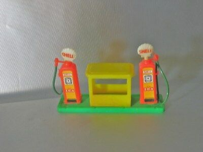 vintage SHELL OIL PLASTIC TOY GAS STATION PUMP HONG KONG