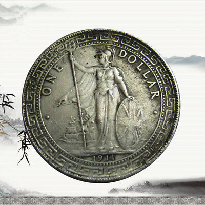 Ancient Coin 1911 British Trade One Dollar Silver Coin Commemorative Coin New