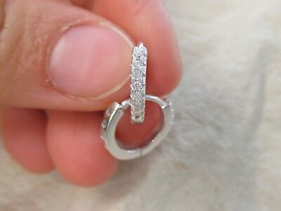 NEW - 100% 925 Sterling Silver VERY SMALL 9mm Cz Huggies for  BABIES GIRLS WOMEN