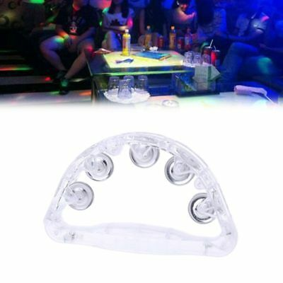 Atmosphere Led Light Up Flashing Tambourine Shaking New Toy Party Supplies