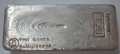 "Vintage 'Harringtons"" - 'DCL' 1000 gram ( KILOGRAM) Silver Bar - .SCARCE"
