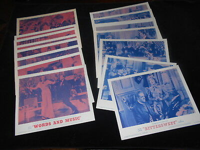 Bittersweet / Words And Music  R/62    2 Original Lobby Cards  Set of 8