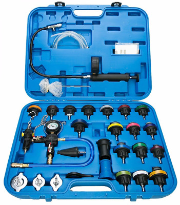 28pc Universal Radiator Pressure Tester & Vacuum Type Cooling System Kit New USA