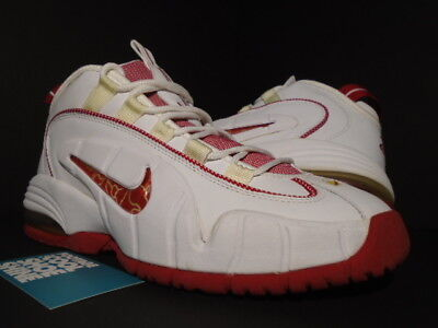 newest 10310 4d327 2005 Nike Air Max Penny One 1 White Varsity Red Foamposite 311089-161 New 9