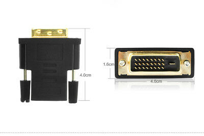 With Video Adapter DVI-D Dual Link 24+1 Male to HDMI Female