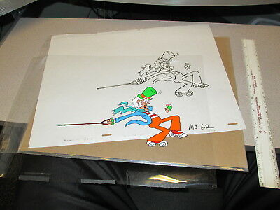 Mr Goodbuy cereal box cartoon 1970s animation cel drawing TV commercial LEASH 2