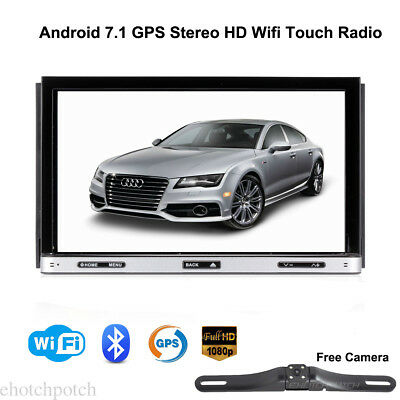 """Android 7.1 WIFI 7"""" Double 2DIN Car Radio Stereo DVD Player GPS USB SD Bluetooth"""