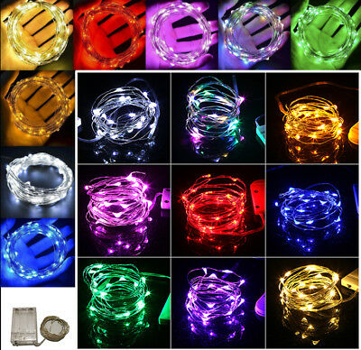 2/3/4/5/10M Christmas 3AA Battery LED Copper Wire String Lights Party Xmas Decor