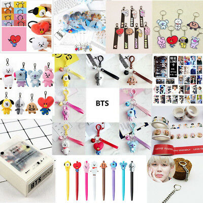 Kpop BTS BT21 Bangtan Boys Cartoon JIMIN JUNKOOK SUGA Plush Doll Key Ring Gifts