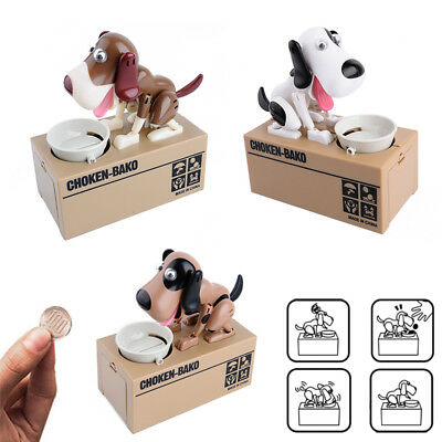 Creative Doggy Style Eating Coins Box Piggy Bank Storage Money Case Kids Gift