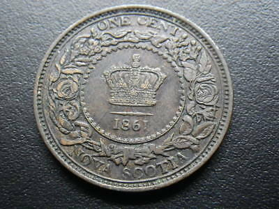 Canada Nova Scotia 1861 One Cent (aVF-VF)      .....      162