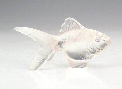 Vintage French Frosted Glass Fantail Goldfish Figure - Art Deco!