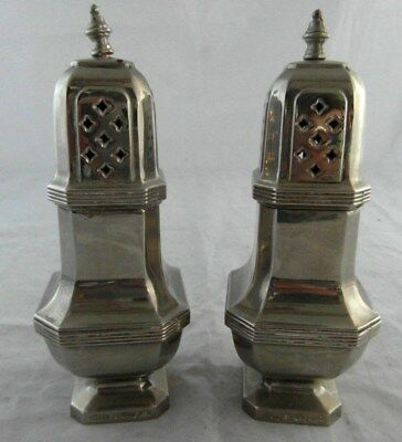 Vintage Made In England LARGE Table Cruet Set / Flour Sifters? EPNS? *TARNISHED*