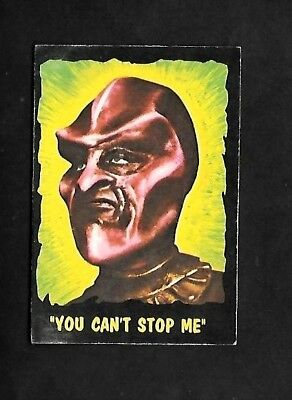 """Bubbles 1966 Scarcer ( Alien Monsters  ) Type Card  """"""""  # 37 Outer Limits  """""""""""