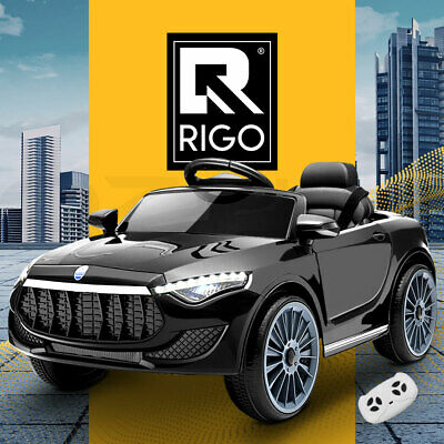 RIGO Kids Ride On Car Electric Toys 12V Battery Remote Control Black MP3 LED