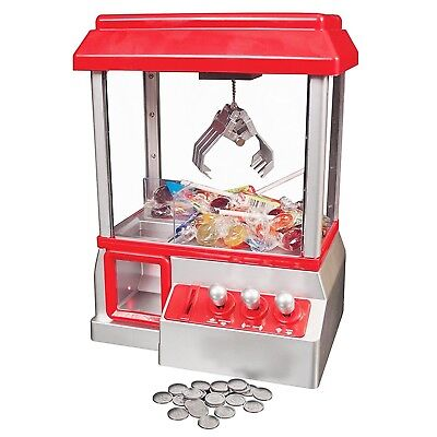 Candy Grabber Machine Toy Claw Game Kids Fun Crane Sweet Grab Gadget Arcade