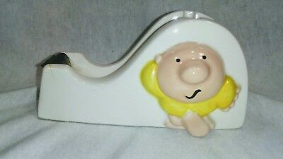 """Vintage 1980 ZIGGY by TOM WILSON """" Stick With It"""" Tape Dispenser Office Supplies"""