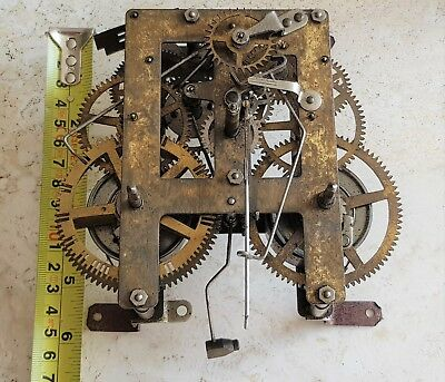 Large Antique Clock Movement & Key Fully Working