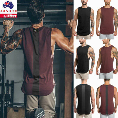 Mens Casual Summer Tank Tops Sleeveless Sports Jogging Gym Muscle Vest Tops