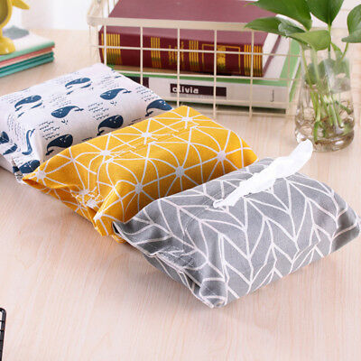 CO_ Contracted Design Cloth Tape Closure Tissue Box Paper Storage Home Decor Flo