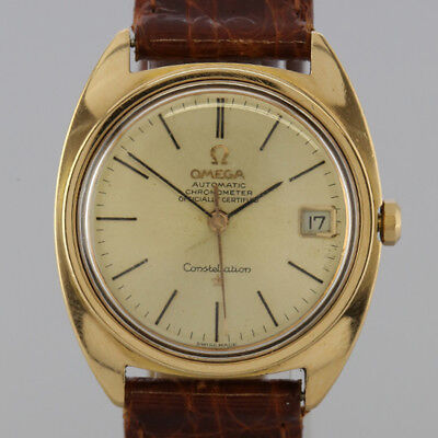 Vintage 18ct Rose Gold Omega Constellation Automatic Gents Wristwatch