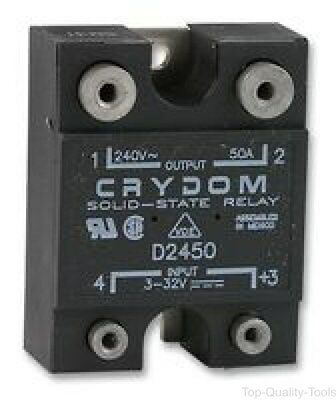 Solid State Relay, SPST-NO, 50 A, 280 VAC, Panel, Screw, Random Turn On