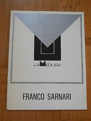 FRANCO SARNARI. catalogue d'exposition. Galleria La Medusa, Roma 1973