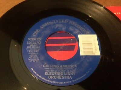 Electric Light Orchestra Calling America Ps  45 7 C2