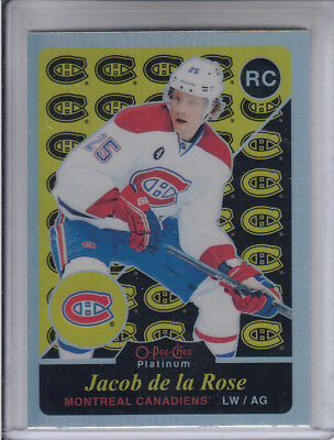 15/16 OPC Platinum Montreal Canadiens Jacob De La Rose Retro Rainbow RC #M74