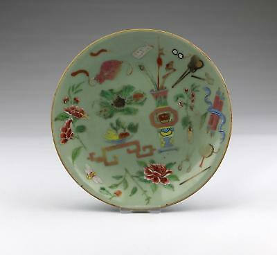 Antique 19thC Chinese Qing Marked Famille Rose Canton Antiques Porcelain Dish