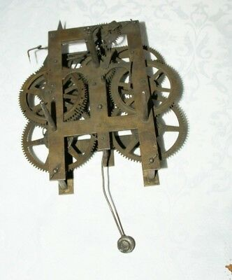 Antique Shelf/Wall Clock Movement (U.S.A.?) Spares/Repair