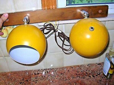 Vintage Mid Century Modern Panton Style Double Eyeball Wall Sconce Light