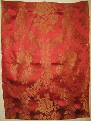 Beautiful  Early 20th C. French Silk & Rayon  Jacquard Fabric (9240