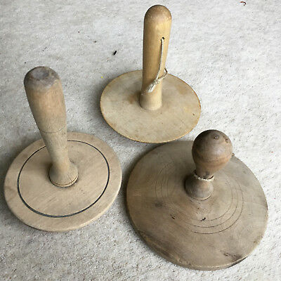 3 Old Treen Vegetable Mashers