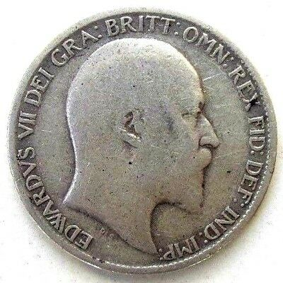 Great Britain Uk Coins, Sixpence 1906, Edward Vii, Silver 0.925