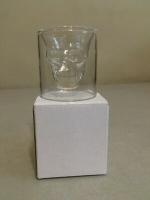 Jagermeister Skull Cup Clear Glass Shot Glass **New** Barware