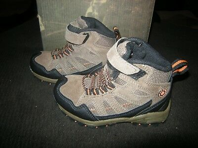 New Toddler Boys Dark Taupe Brown Stone Canyon Miles Boots, Size 8.5